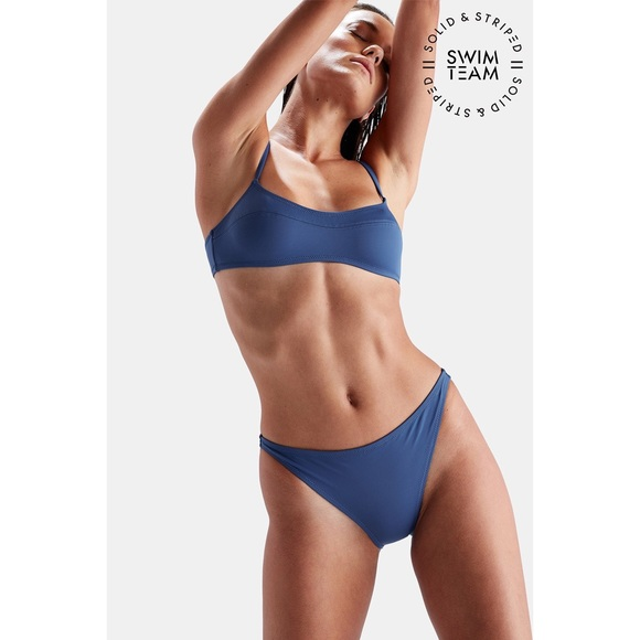 3ab257791865b SOLID & STRIPED Swim | Nwt Solid Striped Team 2018 Elsa Set Slate ...